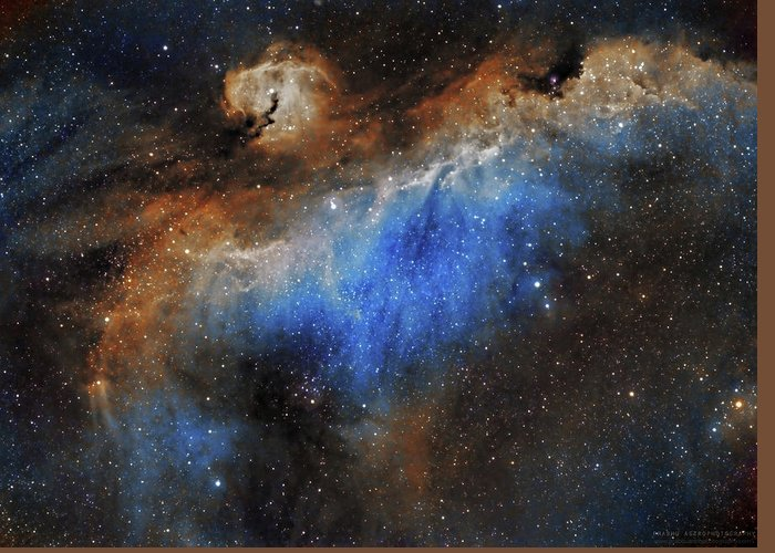 Astronomy Greeting Card featuring the photograph The Seagull Nebula by Prabhu Astrophotography