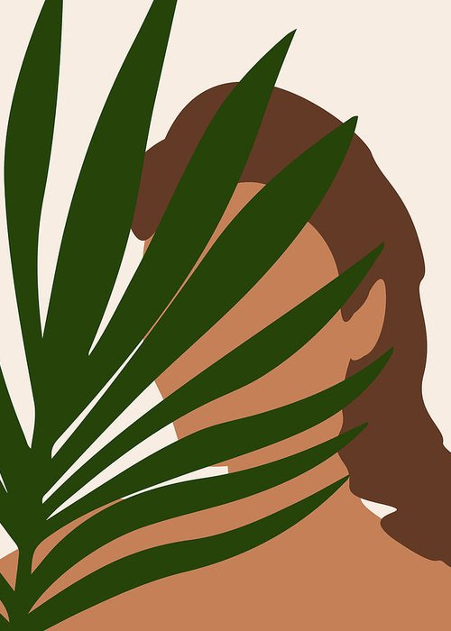 Tropical Reverie 1 Modern Minimal Illustration Girl And Palm Leaves Aesthetic Tropical Vibes Greeting Card For Sale By Studio Grafiikka A bit of calmness in the chaos. tropical reverie 1 modern minimal illustration girl and palm leaves aesthetic tropical vibes greeting card