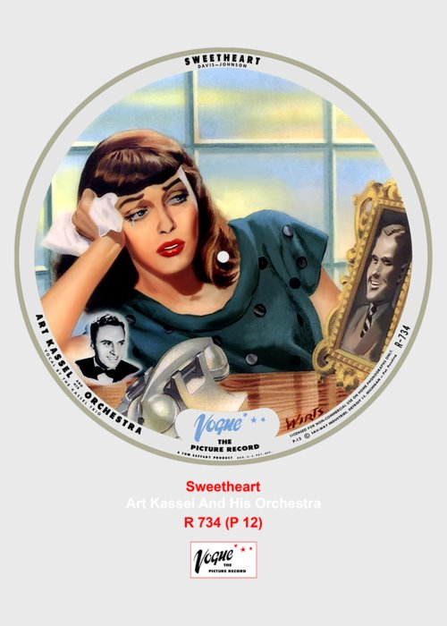 Vogue Picture Record Greeting Card featuring the digital art Vogue Record Art - R 734 - P 12 by John Robert Beck