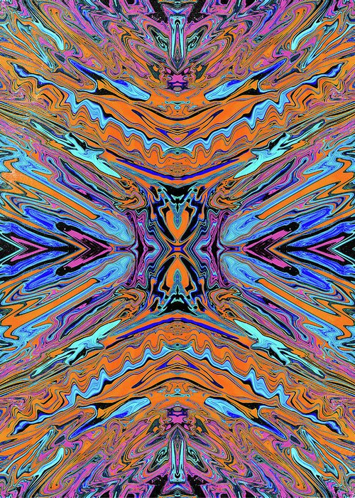 Abstract Greeting Card featuring the digital art Warrior of Love by Jack Entropy