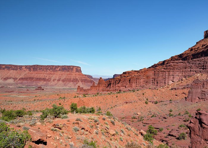 Fisher Towers Greeting Card featuring the photograph Wild Utah Landscape by Jim Thompson