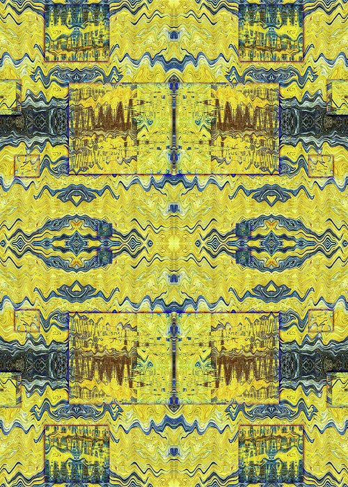 Abstract Greeting Card featuring the digital art Yellow Submarine by Jack Entropy