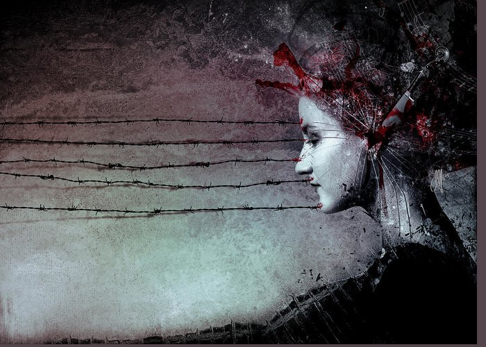 Music Greeting Card featuring the digital art You Promised me a Symphony by Mario Sanchez Nevado