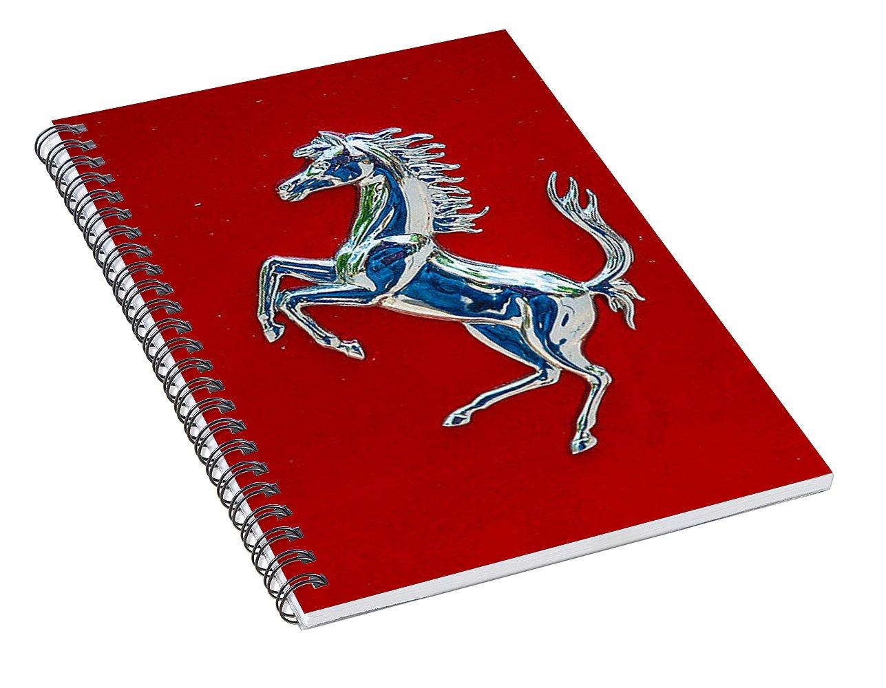 Prancing Horse Ferrari Symbol Spiral Notebook For Sale By Dany Lison