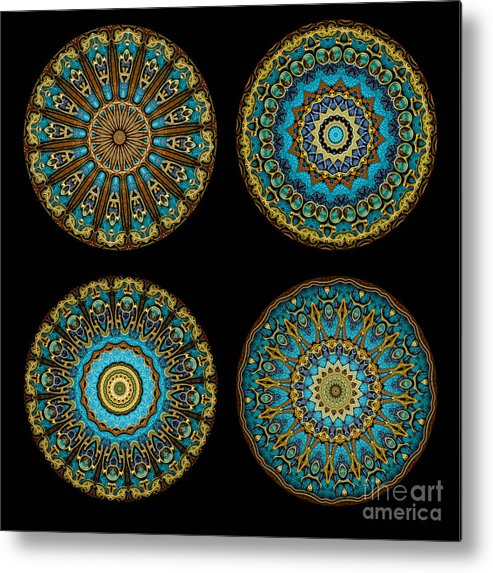Fantasy Metal Print featuring the photograph Kaleidoscope Steampunk Series Montage by Amy Cicconi