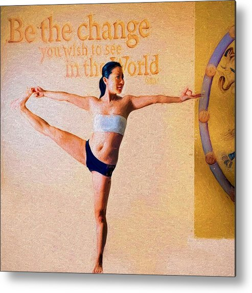 Yoga Metal Print featuring the photograph Yoga by Bill Howard