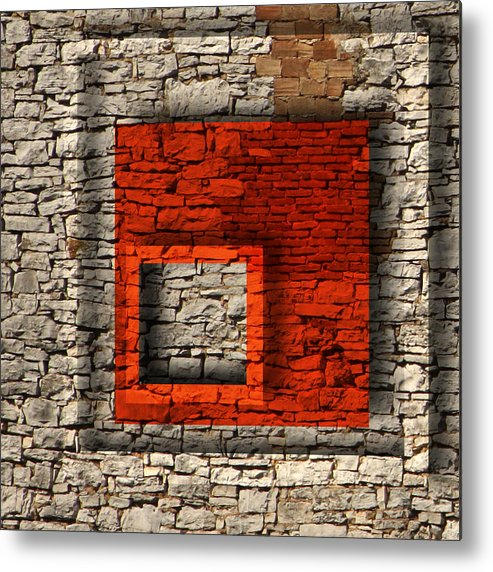 Wall Metal Print featuring the mixed media Abstract Istriana by Barbara Basic Stelluti