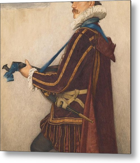 David Metal Print featuring the painting David Rizzio by Sir James Dromgole Linton