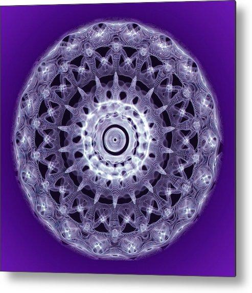 Cymatic Cymatics Sound Image Cymascope Cyma Mmv Vibrational Frequency Metal Print featuring the photograph Hands Around The World by CymaScope