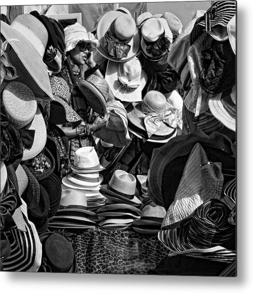 Hat Box Metal Print featuring the photograph The Hat Box by Chrystyne Novack