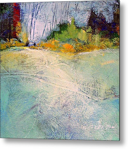 Landscape Metal Print featuring the painting First Frost by Dale Witherow