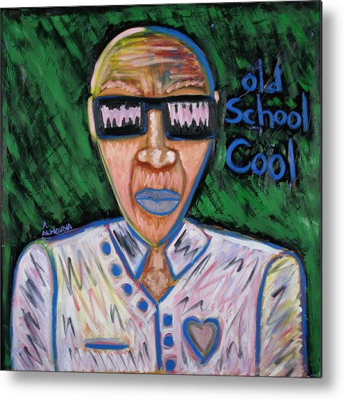 Old School Metal Print featuring the painting Old School Cool by Albert Almondia