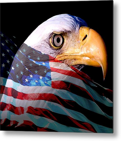 America Metal Print featuring the painting America The Beautiful by Tray Mead