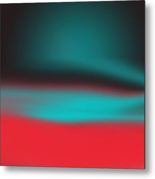 Digital Metal Print featuring the digital art Blended by Alice Lipping