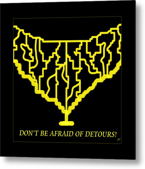Abstract Art Metal Print featuring the painting Detours by Gerlinde Keating - Galleria GK Keating Associates Inc
