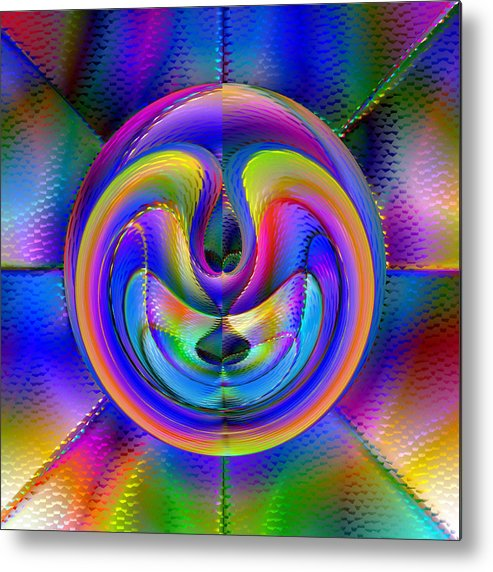 Abstract Metal Print featuring the digital art Embrio by Carl Perry