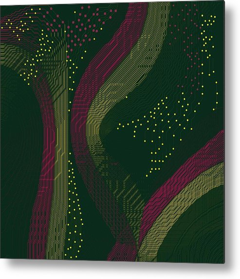 Colors All The Way Metal Print featuring the painting Hds-color Rage by Hema V Gopaluni