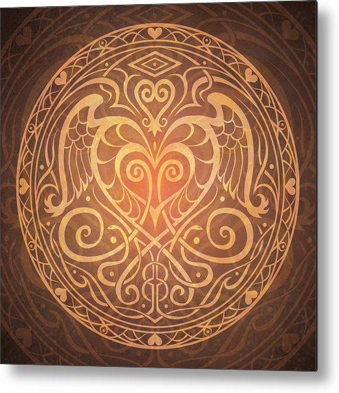 Mandala Metal Print featuring the digital art Heart Of Wisdom Mandala by Cristina McAllister