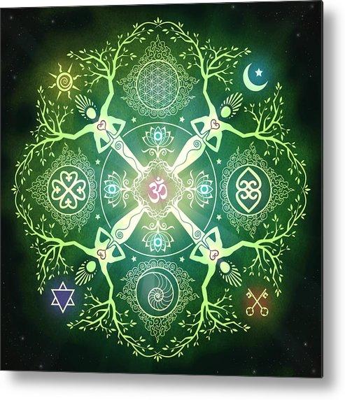 Mandala Metal Print featuring the digital art Numinosity Mandala by Cristina McAllister