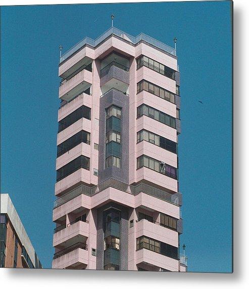 Girl Metal Print featuring the photograph Pink Tower by David Cardona