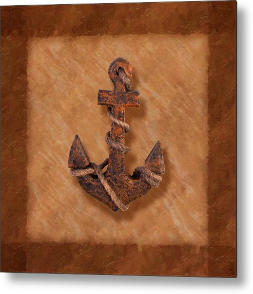 Anchor Metal Print featuring the photograph Ship's Anchor by Tom Mc Nemar
