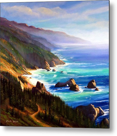 Seascape Metal Print featuring the painting Shore Trail by Frank Wilson