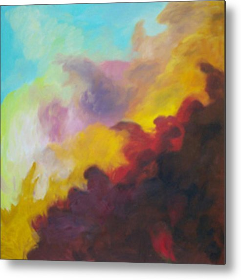 Abstract Metal Print featuring the print Space Cloud by Anne Trotter Hodge