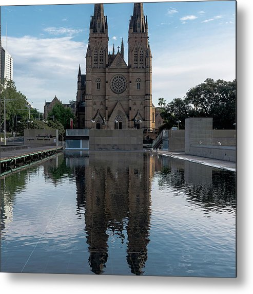 Sydney Metal Print featuring the photograph St Mary's Cathedral by Steven Richman