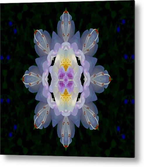 Baroque Metal Print featuring the mixed media Baroque Fantasy Flowers Ornate by Pepita Selles