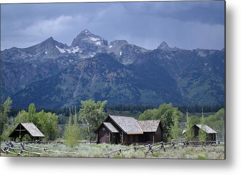 Mountain Metal Print featuring the photograph Yellowstone by Joseph Madison