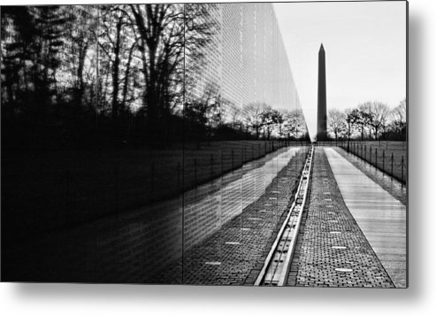 Vietnam Wall Metal Print featuring the photograph 58286 by JC Findley