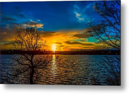 Sunset Metal Print featuring the photograph Angel In The Clouds by Mark Cranston