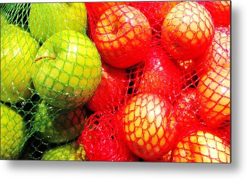 Apple Metal Print featuring the photograph Apples by Marilyn Diaz