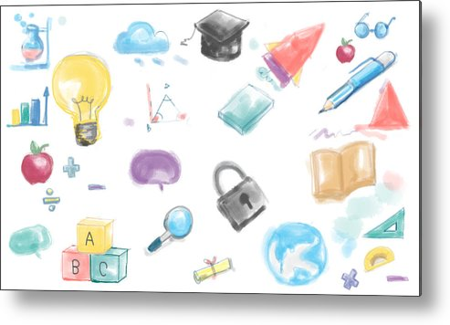 Drawing Inspiration Innovation Ideas Creative Concept Metal Print By