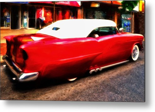 55 Chevy Metal Print featuring the painting Frenched 55 by Michael Pickett