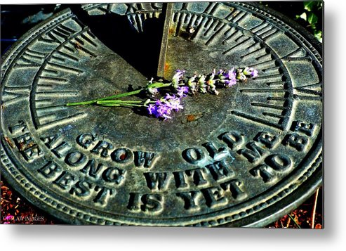 Sundial Metal Print featuring the photograph Grow Old by Holly Dwyer