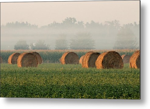 Haybale Metal Print featuring the photograph Haybales by Sarah Boyd
