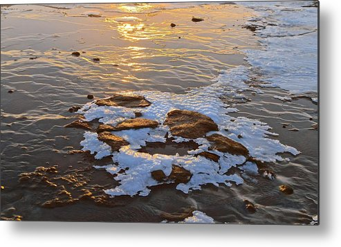 Landscape Metal Print featuring the photograph Ice Rocks by Eric Reger