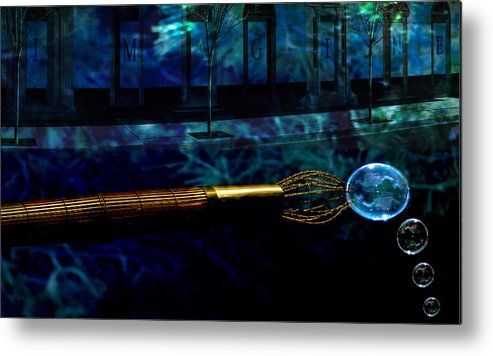 Metal Print featuring the digital art Imagine by Dawn Call