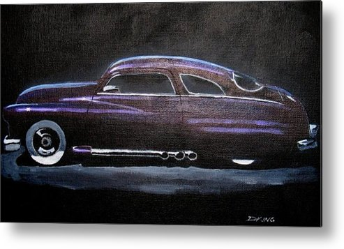 1949 Mercury Metal Print featuring the painting Lowrider by Daniel King