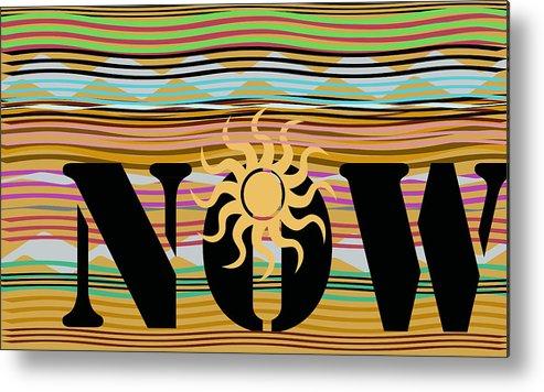 Energy Metal Print featuring the digital art Now Wavy by Laura Pierre-Louis