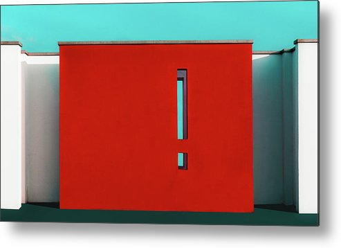 Denmark Metal Print featuring the photograph The Red Wall by Inge Schuster