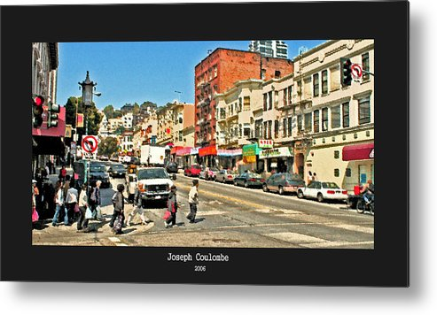 Urban Streets Metal Print featuring the photograph Urban Cross Walks by Joseph Coulombe