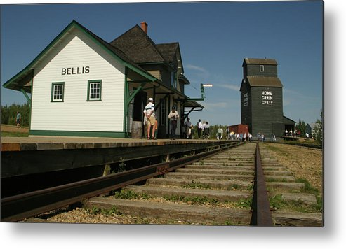 Horizontal Metal Print featuring the photograph The Station by Jack Dagley
