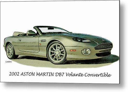 Aston Martin Metal Print featuring the digital art Aston Martin by Larry Linton