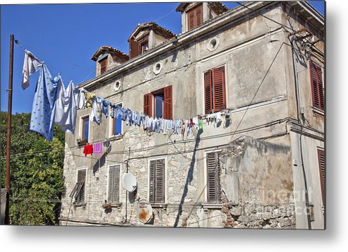 Laundry Metal Print featuring the photograph Hanging Out To Dry In Rovinj by Madeline Ellis