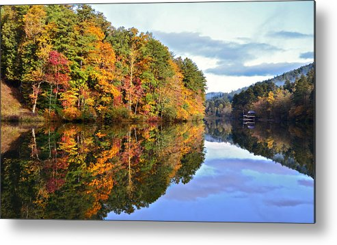 Landscape Metal Print featuring the photograph Reflections Of Autumn by Susan Leggett