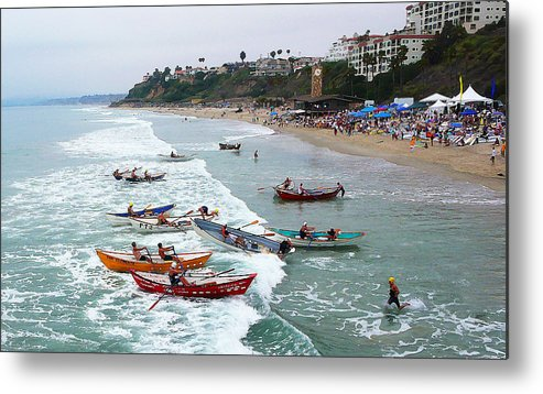 Boat Race Metal Print featuring the photograph The Boat Race by Ron Regalado
