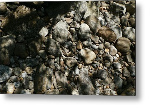 River Metal Print featuring the photograph River Stones by Wolfgang Schweizer