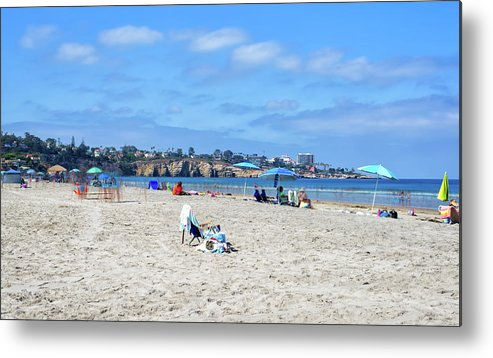 Summer Metal Print featuring the photograph A La Jolla Shores Summer by Joseph S Giacalone